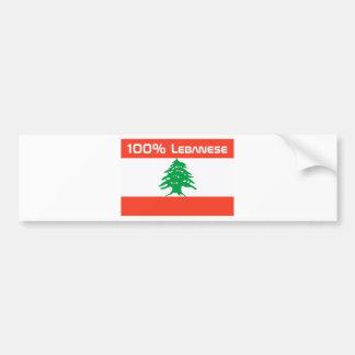 Libanés del 100% pegatina para auto