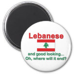 Libanés y apuesto imán de frigorifico