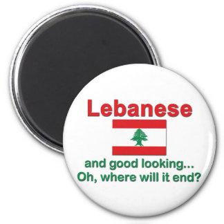 Libanés y apuesto imán redondo 5 cm