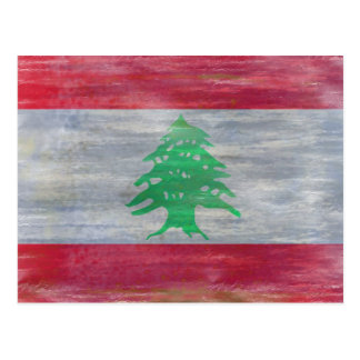 Líbano apenó la bandera libanesa postal