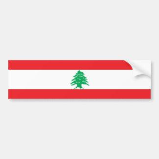 Líbano - bandera libanesa pegatina para auto