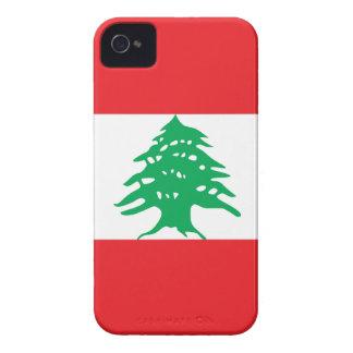 Líbano - bandera libanesa iPhone 4 funda