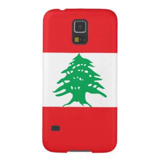 Líbano - bandera libanesa carcasas para galaxy s5