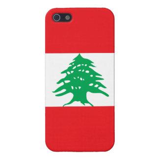 Líbano - bandera libanesa iPhone 5 fundas