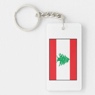 Líbano - bandera libanesa llavero rectangular acrílico a doble cara