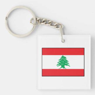 Líbano - bandera libanesa llavero cuadrado acrílico a doble cara