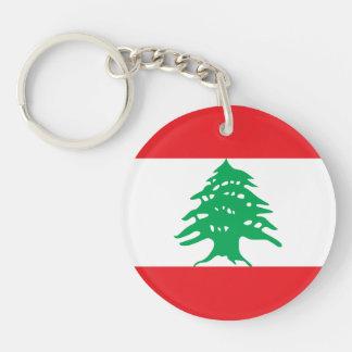 Líbano - bandera libanesa llavero redondo acrílico a doble cara