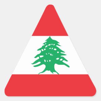 Líbano - bandera libanesa pegatina triangular