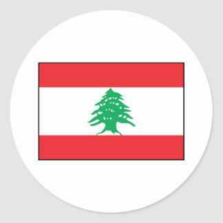 Líbano - bandera libanesa pegatina redonda