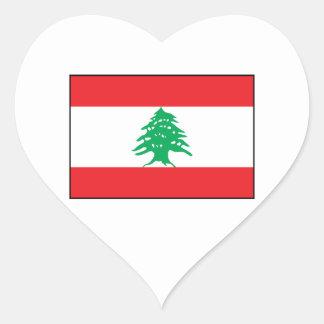 Líbano - bandera libanesa pegatina en forma de corazón