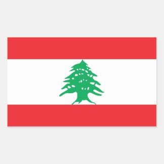 Líbano/bandera libanesa pegatina rectangular