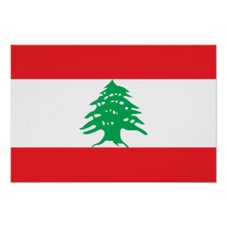 Líbano - bandera libanesa póster
