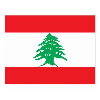 Líbano - bandera libanesa postal