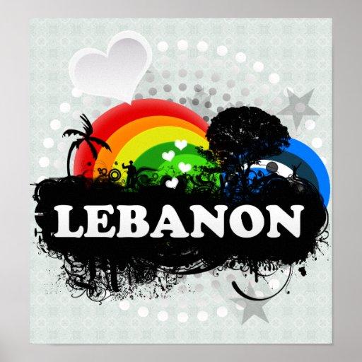 Líbano con sabor a fruta lindo poster