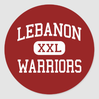 Líbano - guerreros - High School secundaria - Pegatina Redonda