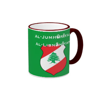 Líbano Mug*/République Libanaise Tasse Taza A Dos Colores