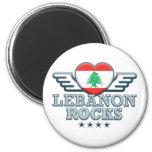 Líbano oscila v2 imán para frigorifico