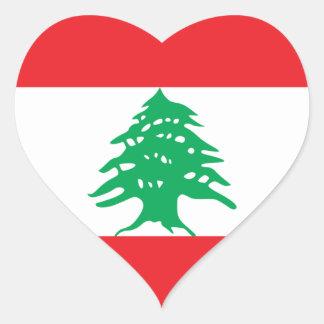 Líbano Pegatina En Forma De Corazón