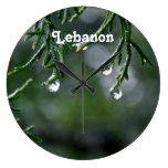 Líbano Reloj De Pared