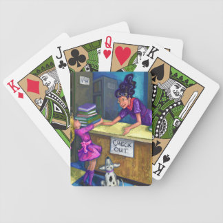 Libary Check Out Bicycle Playing Cards