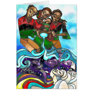 'Libation' Kwanzaa card