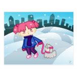 Libbi y Suki: Un paseo en postal del invierno