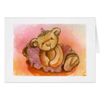 Libby Ballet Bear Card