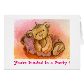 Libby Ballet Bear Party Invitation