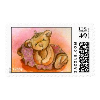 Libby Ballet Bear Stamp