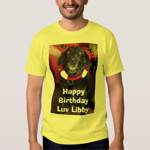 Libby, BirthdayLuv feliz Libby Playera