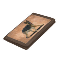 LIBBY DOG TRIFOLD WALLET