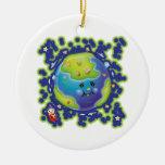 Libby el ornamento del Día de la Tierra de la mari Ornamentos De Reyes Magos