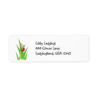 Libby la etiqueta de dirección de la mariquita
