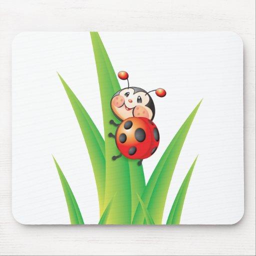 Libby la mariquita Mousepad Alfombrillas De Raton