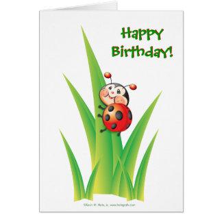 Libby la tarjeta de cumpleaños de la mariquita