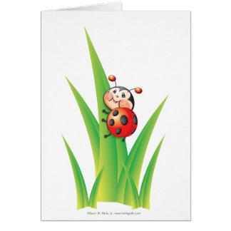Libby la tarjeta de nota de la mariquita