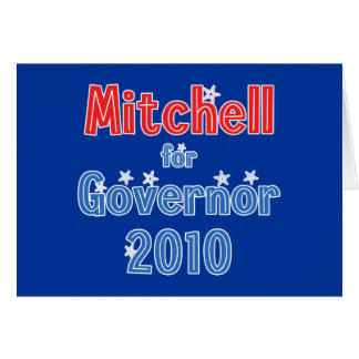 Libby Mitchell for Governor 2010 Star Design Card