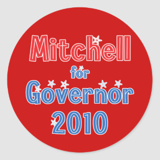 Libby Mitchell for Governor 2010 Star Design Classic Round Sticker