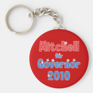Libby Mitchell for Governor 2010 Star Design Keychain