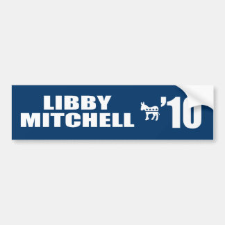 LIBBY MITCHELL FOR GOVERNOR BUMPER STICKERS