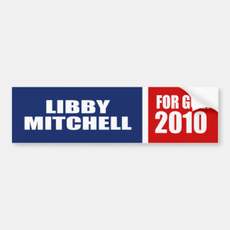 LIBBY MITCHELL FOR GOVERNOR BUMPER STICKER