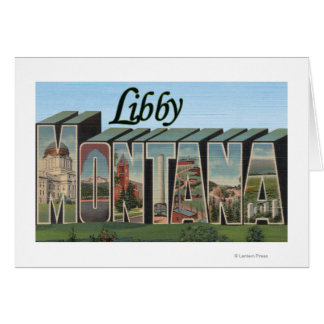 Libby MontanaLarge Letter ScenesLibby MT Greeting Cards