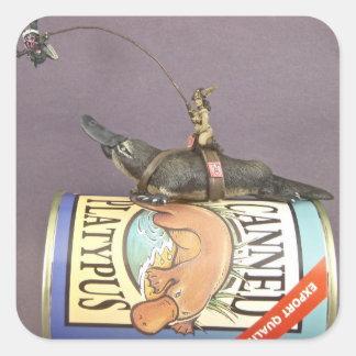 libby on a platypus on a sticker