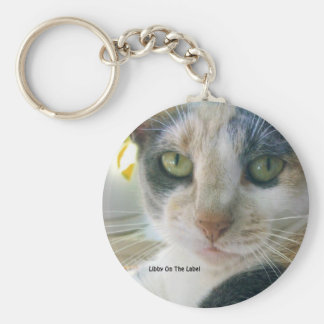 Libby On The Label Basic Round Button Keychain
