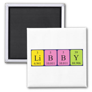 Libby periodic table name magnet