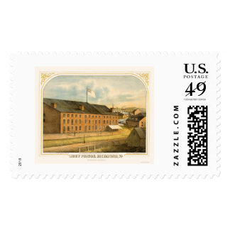 Libby Prison, by E. Sachse & Company 1865 Postage Stamp