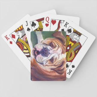 Libby the English Bulldog Playing Cards