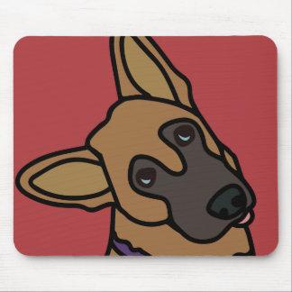 Libby the German Shepherd Dog Cartoon Mouse Pad