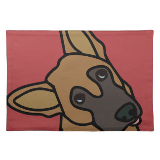 Libby the German Shepherd Dog Cartoon Placemat