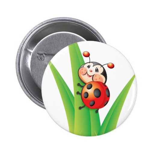 Libby the Ladybug Button
